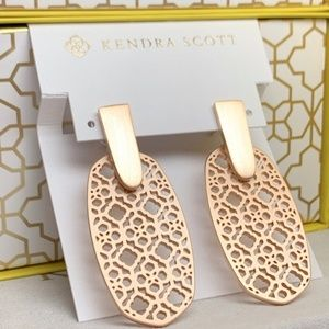 Kendra Scott Aragon Rose Gold In Filigree
